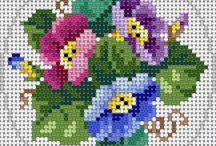 Цветы, вышивка