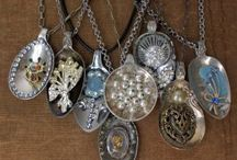 Vintage spoons / Up cycling into jewellery
