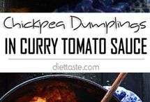 chickpea dumplings tomato curry