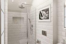 Ванные комнаты, выложенные плиткой