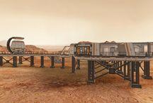 """Mars: Space Loft & Space Shuttle / Seit November 2016 zeigt der National Geographic Channel die erste bemannte Mars-Mission als Doku-Fiction. An sechs Sonntagen in Folge wird das spektakuläre Serien-Event """"Mars"""" im TV ausgestrahlt: http://bit.ly/natgeo_mars. Als Kooperationspartner von National Geographic und als Plattform für ALLE Immobilien in diesem Sonnensystem präsentieren wir Ihnen hiermit das erste Penthouse auf dem Roten Planeten, das #is24SpaceLoft!"""