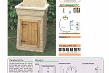 Casa Giardino: lavatoio, fontana, pozzo
