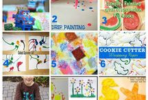 Toddler Crafts and Sensory Play / Here's what two moms are using for inspiration to keep their 1-4 year olds busy!