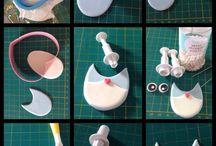 Réalisations de pâte à modeler, pâte à sel