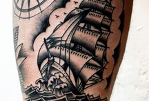 old school sail tat