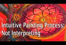 """Intuitive Painting/Vedic Art / As Einstein said, """"The intuitive mind is a sacred gift and the rational mind is a faithful servant."""" Allow yourself to immerse in the beauty of intuitive painting and look inside your soul for inspiration."""