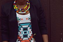 African inspired necklaces / african inspired necklaces, Ankara necklaces, fun and colourful beads