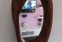 my mirrors! / handmade wooden mirrors!