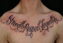 Tattoos writing