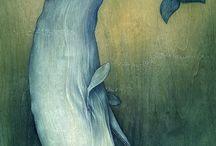 Ilustración ballenas