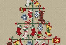 Cross stitch Christmas xmas jul