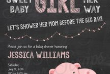 Tays pink piggy baby shower!