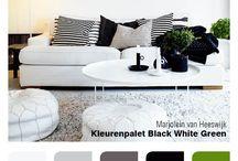 Black white & Green / Furniture settings
