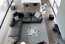 grey and natural interior