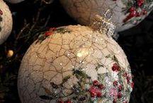 Χριστουγεννιάτικη διακόσμηση ντεκουπαζ