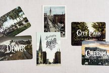 Colorado Stationery: Vintage postcards & Art prints / Home to Lucky Onion, our Colorado Love stationery line commemorates all of the wonderful landmarks and activities we like to enjoy everyday.