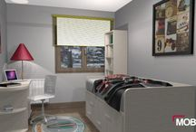 Diseño de dormitorio juvenil D73