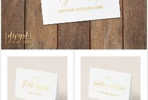 Wedding Day Cards / Will you be my bridesmaid/maid of honor/ flower girl... Also to my groom/ bride, mother/ father on our wedding day, and more!