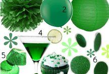 Emerald, Silver & White / Theme ideas for a 20th Wedding Anniversary Celebration