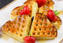 Strawberries,waffle and creps