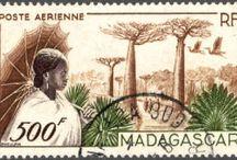 Timbres de Madagascar / Un timbre porte un certain nombre d'informations nécessaires à son utilisation postale