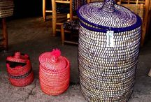 Coloured Wicker Storage Baskets / Are are looking adorable coloured wicker storage baskets? Get ultimate collection of handmade wicker storage baskets in vibrant colours from ARTISANBAZZARTS. Shop it now from ESTY online store.