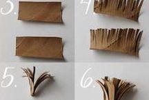 Ideas com rolos papel hig.