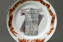 Art born of the October revolution. Porcelain.