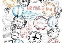 Vetores postais selo