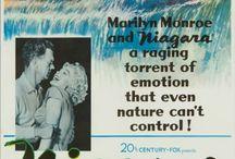 "Niagara - Marilyn / Marilyn Monroe during the filming of ""Niagara"" in 1952 + costume and hair tests."