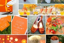 Orange Accented Weddings