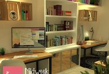 Office - designed by HoS / small office, large space office, let's make it a comfort place to stay productive! ♥