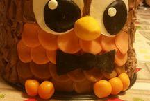 búho de pastel