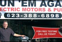 About Run 'Em Again Electric Motors / Run 'Em Again Electric Motors is a third generation family owned electric motor shop. With knowledge in repair and replacement of electric motors. http://runemagainmotors.com/
