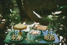woodland sweet table