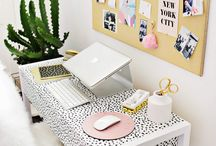 Chic Office Spaces & Vanities / My favorite looks for clean, minimal, and eclectic  office spaces perfect for any apartment! These are great study spaces to office spaces.