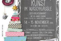 Kunsthandwerkermarkt / OFFENES HOFTOR Einzigartiger Markt, kultiges Ambiente im urigen Vintage-style, immer im November.  Schönes Plakat, nette Idee auch für Weihnachtskarten...