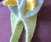 Felting Figures Flowers Ornaments