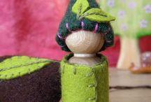 houten vilten popje