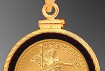 Solid Gold / Coin Jewelry Items featuring solid gold coins from the US Mint and other mints worldwide.