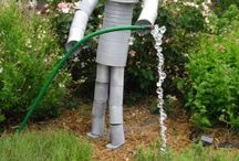 Recycled outdoor projects for school