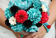 Fabric and Paper Bouquet