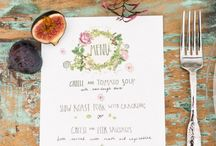 Invitaciones y minuta boda