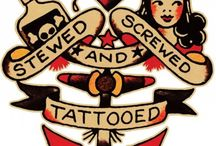 Rockabilly Sailor Jerry Board / One of the prominent tattoo artists of the rockabilly culture was Sailor Jerry. He marked his place in the tattoo history for his vividly coloured and iconographic tattooing style.