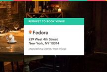 Fedora on ExpressBook / Book this experience: Supper at Fedora in the Private Dining Room - venuebook.com/venue/896/fedora/ / by VenueBook