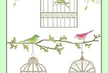 broderie BIRD