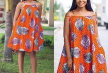 Robes à imprimés africains