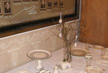 Levendulás vintage étkészlet / A kerámia műhelyemben készült, kézzel festett, egyedi, vintage stílusú levendulás étkészlet.