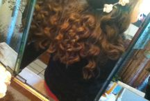 Curly wanded hair / Curling my hair using a wand