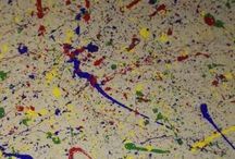 colors and shapes 3rd birthday party / Birthday party